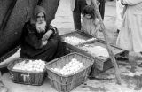 Morocco, vendor selling eggs in Jewish Quarter in Marrakech