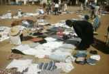 Burkina Faso, clothing for sale at market