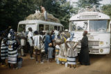 Burkina Faso, people boarding buses