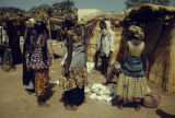 Burkina Faso, women in village