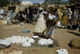 Burkina Faso, cotton for sale at market