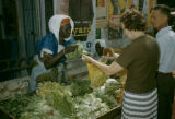 Senegal, woman selling vegetables