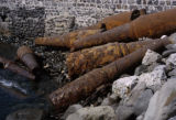 Dakar, rusted cannons on Goree Island