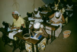 Senegal, women learning to sew