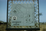 Dakar, map of University of Dakar