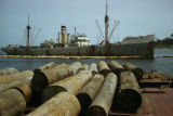 Gabon, lumber for export from Port-Gentil