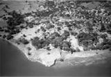 Entebbe (Uganda), aerial view from the east of the botanical gardens and shore of Lake Victoria