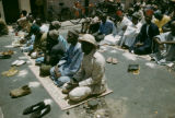 Dakar, Muslim men at prayer