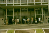 Côte d'Ivoire, people at new post office in Abidjan