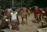 Côte d'Ivoire, men performing ceremonial dance