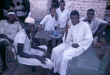 Sudan, Sudanese men gathered at coffee house