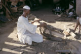 Sudan, man making wagon