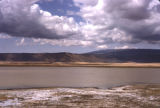 Tanzania, view of lake and mountains around Ngorongoro Crater