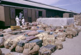 Sudan, baggage at railroad station