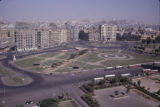 Egypt, view of buildings surrounding Tahrir Square in Cairo