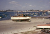 Tanzania, boat docked on Dar es Salaam waterfront