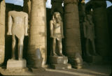 Egypt, columns and sculpture at Luxor Temple in ancient Thebes