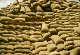 Africa, bags of peanuts for export