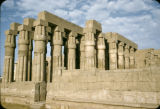 Egypt, colonnade at Luxor Temple in ancient Thebes