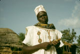 Nigeria, portrait of Fula village chief