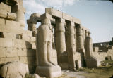 Egypt, colonnades at Temple of Luxor in ancient Thebes