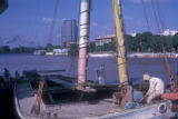 Cairo (Egypt), boats docked at the Nile river coastline