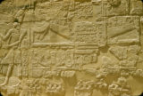 Egypt, hieroglyphics on wall at Karnak Temple Complex
