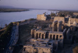 Egypt, aerial view of ancient Thebes at Luxor