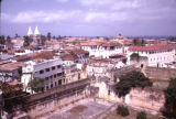 Tanzania, rooftop view of Zanzibar and old fort