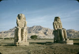 Egypt, Colossi of Memnon statues in ancient Thebes