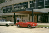 Tanzania, cars parked in front of The Kilimanjaro Hotel in Dar es Salaam