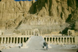 Egypt, ruins at Mortuary Temple of Queen Hatshepsut at ancient Thebes