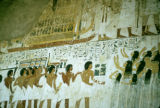 Egypt, painting of funeral procession in Tomb of Ramose at Luxor