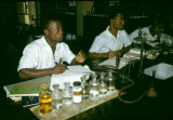 Nigeria, university students in chemistry lab