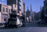 Cairo (Egypt), people riding in a streetcar