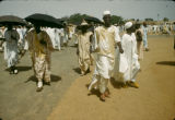 Nigeria, Muslims gathering for prayer in Kano