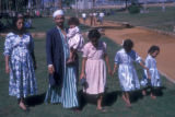 Cairo (Egypt), family walking in the park