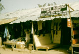 Nigeria, merchants selling shoes and other goods