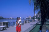 Cairo (Egypt), people along the Nile river waterfront