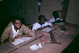 Nigeria, students in carpentry class