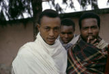 Africa, men wrapped in scarves