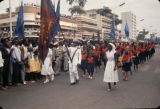 Democratic Republic of the Congo, people marching in Independence Day parade