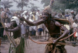 Democratic Republic of the Congo, shaman 'attacking a demon' in performance
