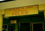 Democratic Republic of the Congo, sign for customs police office at Brazzaville airport