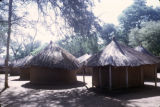 Zambia, thatched-roof huts in kraal