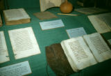 Nigeria, museum display of Islamic literature from Northern Nigeria