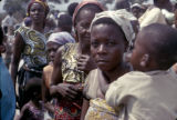 Democratic Republic of the Congo, women gathered in village