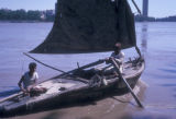 Cairo (Egypt), men in a rowboat on the Nile river