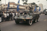 Democratic Republic of the Congo, armored car in Independence Day parade
