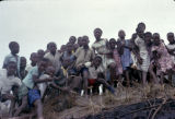 Democratic Republic of the Congo, children gathered on hill